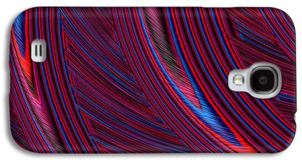 Herl In Red And Blue Galaxy S4 Case by John Edwards