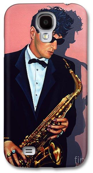 Saxophone Galaxy S4 Case - Herman Brood by Paul Meijering