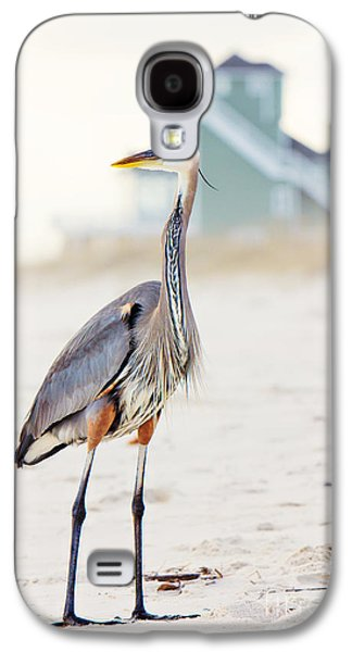 Heron And The Beach House Galaxy S4 Case by Joan McCool
