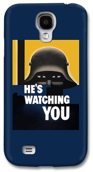 He's Watching You - Ww2 Galaxy S4 Case by War Is Hell Store