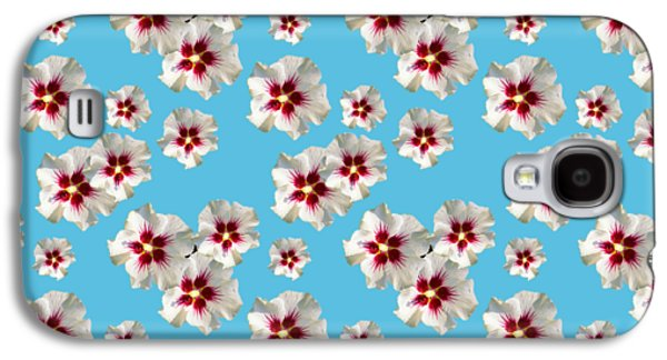 Galaxy S4 Case featuring the mixed media Hibiscus Flower Pattern by Christina Rollo