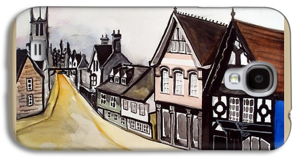 High Street Of Stamford In England Galaxy S4 Case by Dora Hathazi Mendes