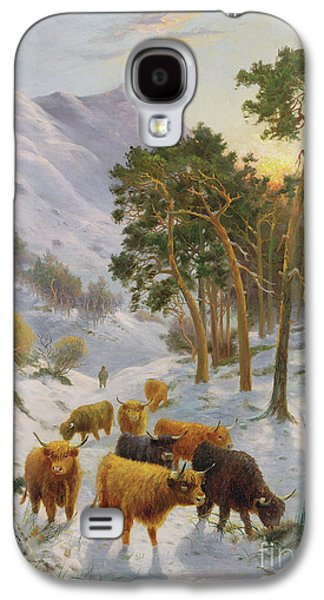 Highland Cattle In A Winter Landscape Galaxy S4 Case