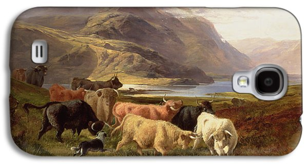 Highland Cattle With A Collie Galaxy S4 Case
