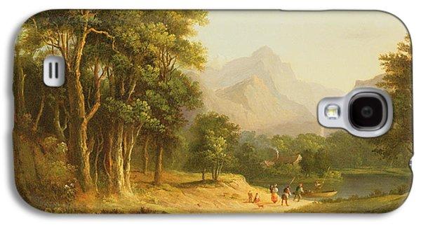 Highland Landscape With Figures Galaxy S4 Case by Alexander Nasmyth