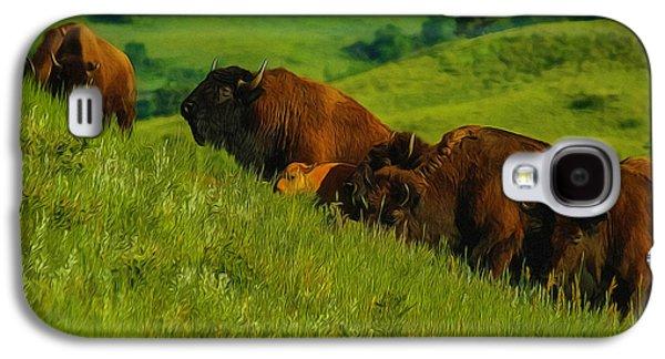 Hillside Buffalo Galaxy S4 Case by Ernie Echols