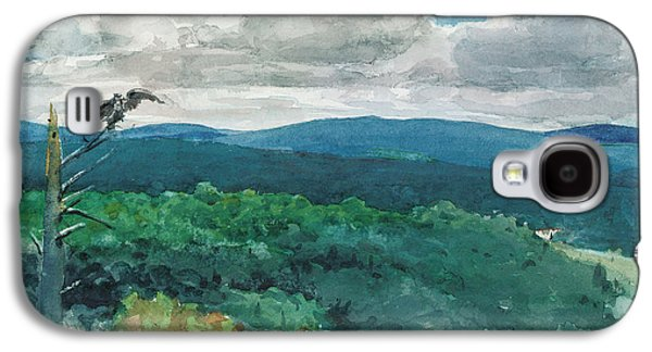 Hilly Landscape Galaxy S4 Case by Winslow Homer