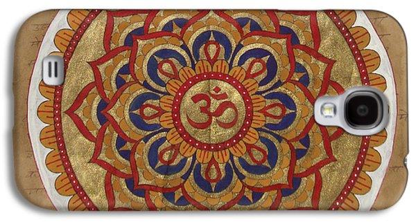 Hindu Vedic Artwork Om Yoga Kundalini Meditation Mandala Painting Artist India Galaxy S4 Case