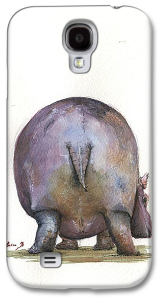 Hippopotamus Galaxy S4 Case - Hippo Back by Juan Bosco
