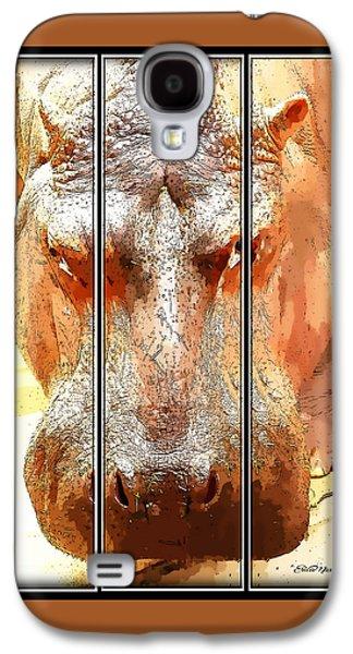 Hippo Cartoon Galaxy S4 Case