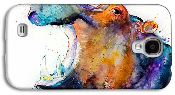Hippo Galaxy S4 Case by Slavi Aladjova