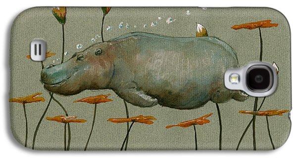 Hippo Underwater Galaxy S4 Case by Juan  Bosco