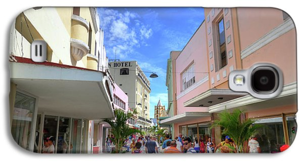 Historic Camaguey Cuba Prints Commercial Center Galaxy S4 Case by Wayne Moran