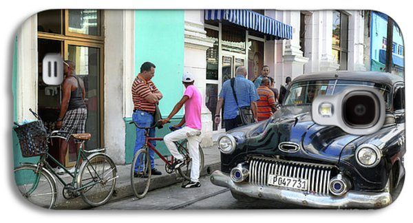 Historic Camaguey Cuba Prints The Cars 2 Galaxy S4 Case by Wayne Moran