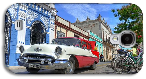 Historic Camaguey Cuba Prints The Cars Galaxy S4 Case by Wayne Moran