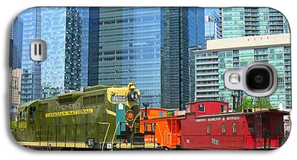 Historic Train Engine And Caboose At Roundhouse Park Toronto Galaxy S4 Case by John Malone