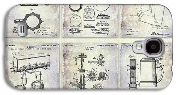 History Of Beer Patents Galaxy S4 Case by Jon Neidert