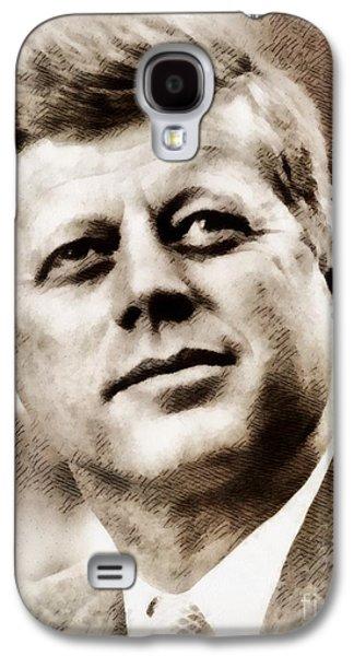 History Portraits. John F. Kennedy, President Of The Usa By John Springfield Galaxy S4 Case by John Springfield