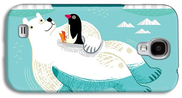 Polar Bear Galaxy S4 Case - Hitching A Ride by Oliver Lake