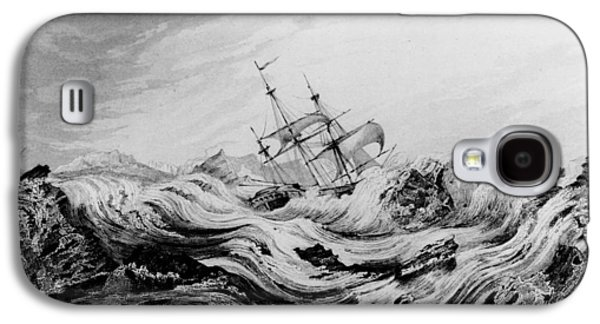 Hms Dorothea Commanded By David Buchan Driven Into Arctic Ice Galaxy S4 Case by English School