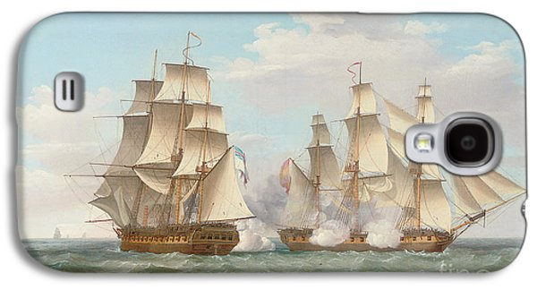 Hms Ethalion In Action With The Spanish Frigate Thetis Off Cape Finisterre Galaxy S4 Case