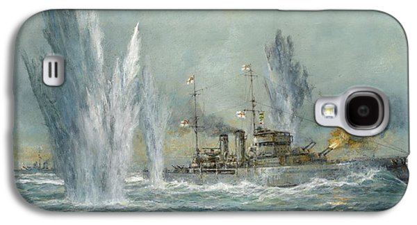 Hms Exeter Engaging In The Graf Spree At The Battle Of The River Plate Galaxy S4 Case