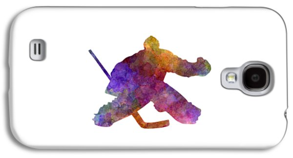 Hockey Porter In Watercolor Galaxy S4 Case
