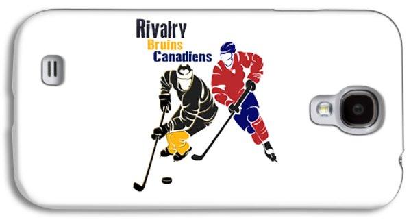 Hockey Rivalry Bruins Canadiens Shirt Galaxy S4 Case by Joe Hamilton