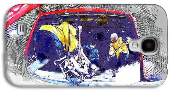 Hockey Score Attempt From The Ice Level Galaxy S4 Case by Elaine Plesser