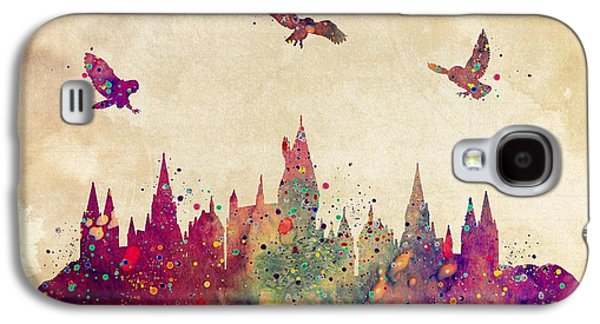 Hogwarts Castle Watercolor Art Print Galaxy S4 Case by Svetla Tancheva