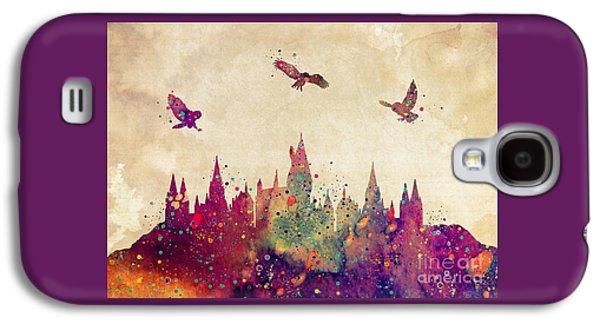 Hogwarts Castle Watercolor Art Print Galaxy S4 Case