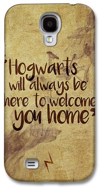 Wizard Galaxy S4 Case - Hogwarts Is Home by Samuel Whitton