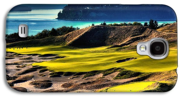 Hole #14 At Chambers Bay Galaxy S4 Case by David Patterson