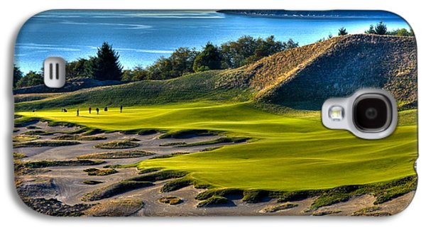 Hole #14 - Cape Fear - At Chambers Bay Galaxy S4 Case by David Patterson