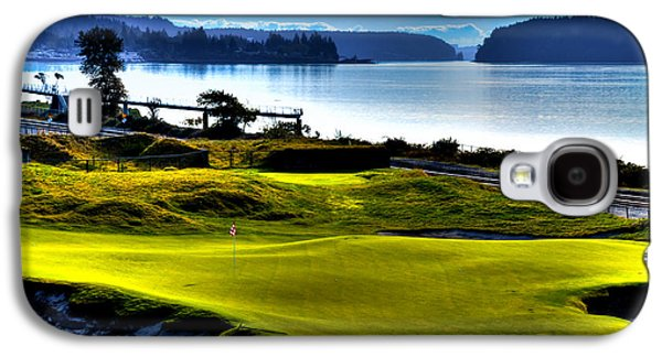 Hole #17 At Chambers Bay Galaxy S4 Case by David Patterson