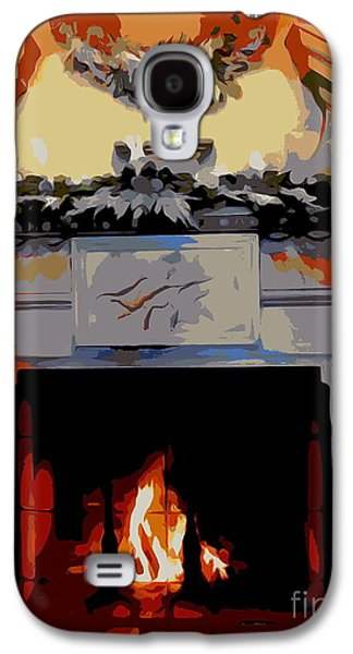 Holiday Fireplace #1 Galaxy S4 Case