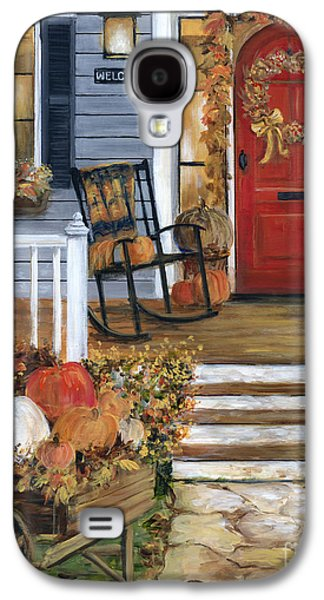 Pumpkin Porch Galaxy S4 Case by Marilyn Dunlap
