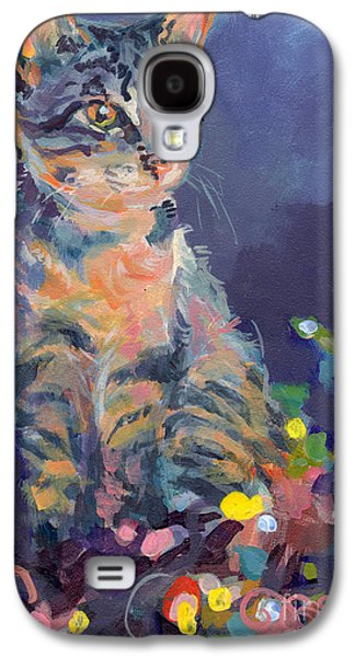 Cat Galaxy S4 Case - Holiday Lights by Kimberly Santini