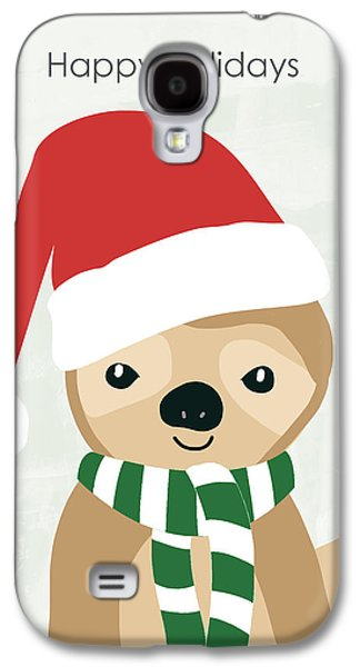 Holiday Sloth- Design By Linda Woods Galaxy S4 Case