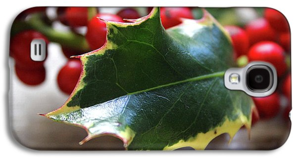 Holly Berries- Photograph By Linda Woods Galaxy S4 Case by Linda Woods