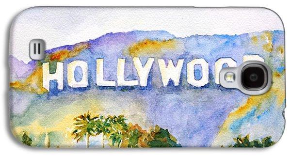 Los Angeles Galaxy S4 Case - Hollywood Sign California by Carlin Blahnik CarlinArtWatercolor