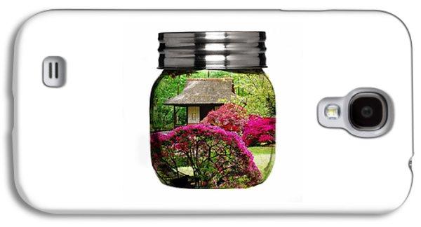 Home Flower Garden In A Glass Jar Art Galaxy S4 Case by Marvin Blaine