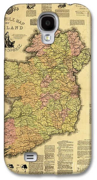 Home Rule Map Of Ireland, 1893 Galaxy S4 Case by Irish School