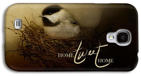 Home Tweet Home With Words Galaxy S4 Case