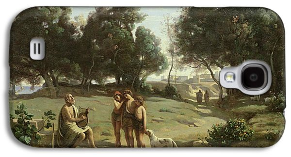 Homer And The Shepherds In A Landscape Galaxy S4 Case by Jean Baptiste Camille Corot