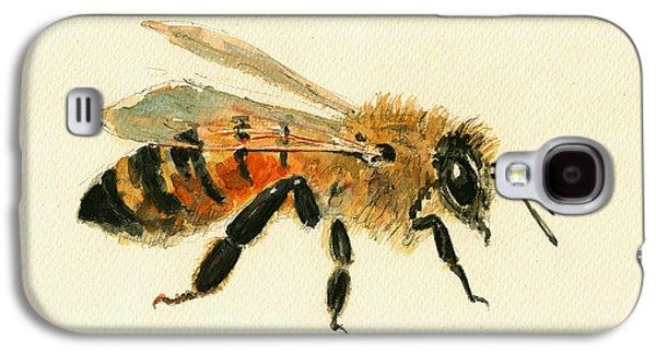 Honey Bee Painting Galaxy S4 Case