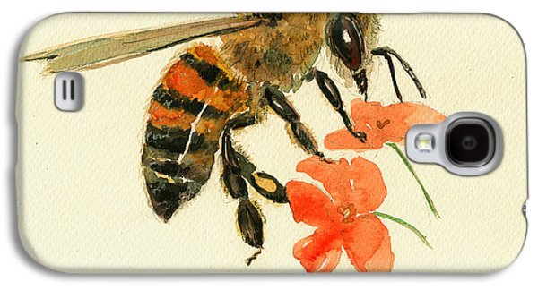 Honey Bee Watercolor Painting Galaxy S4 Case