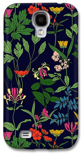 Honeysuckle Floral Galaxy S4 Case by Sholto Drumlanrig