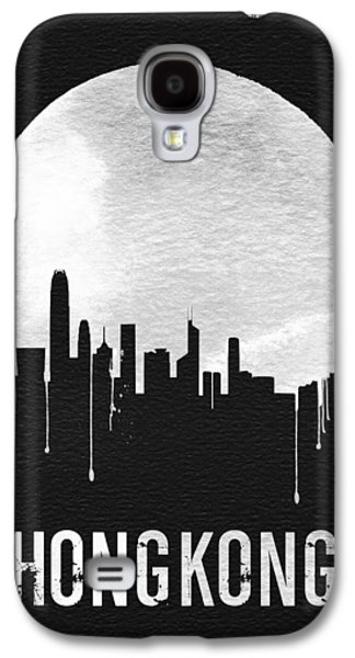 Hong Kong Skyline Black Galaxy S4 Case by Naxart Studio