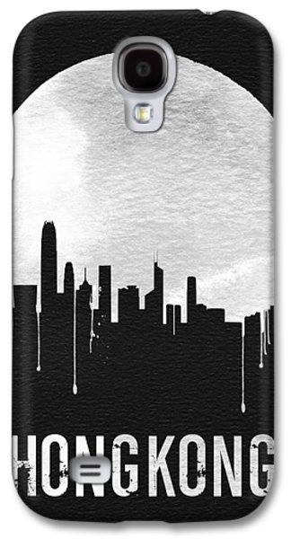 Travel Galaxy S4 Case - Hong Kong Skyline Black by Naxart Studio